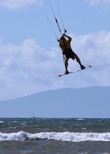 Kite boarding on Maui